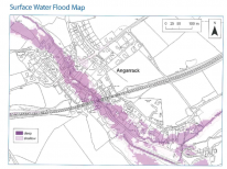 Surface Water Flood Map - Angarrack Flood Plan 2018