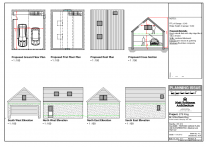 275/015 Proposed Floor Plans, Roof Plan, Cross Section and Elevations