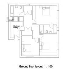 Ground floor layout 1:100