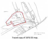 Traced copy of 1876 OS map | Carnsew Docks