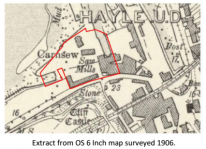 Extract from OS 6 Inch map surveyed 1906 | Carnsew Docks