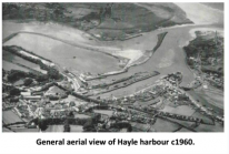 General aerial view of Hayle harbour,c1960