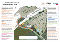 St Erth Multi Modal Hub general layout plan