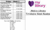 West Cornwall Week 2 timetable (March 2017 to August 2017)