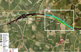extract of proposed route Chiverton Cross to Carland Cross