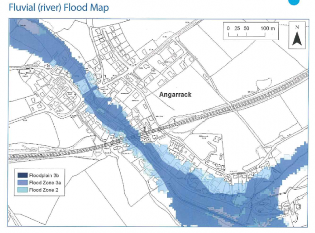 Fluvial (river) Flood Map - Angarrack Flood Plan 2018