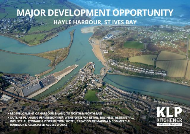MAJOR DEVELOPMENT OPPORTUNITY HAYLE HARBOUR, ST IVES BAY
