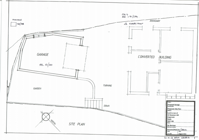 Burrows/PL01/16/A - Site Plan