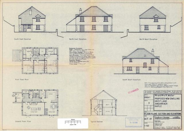 3 Floor plans, section and elevations.04082016