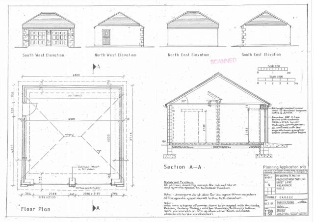 4 Proposed double garage, floor plan and elevations 04082016