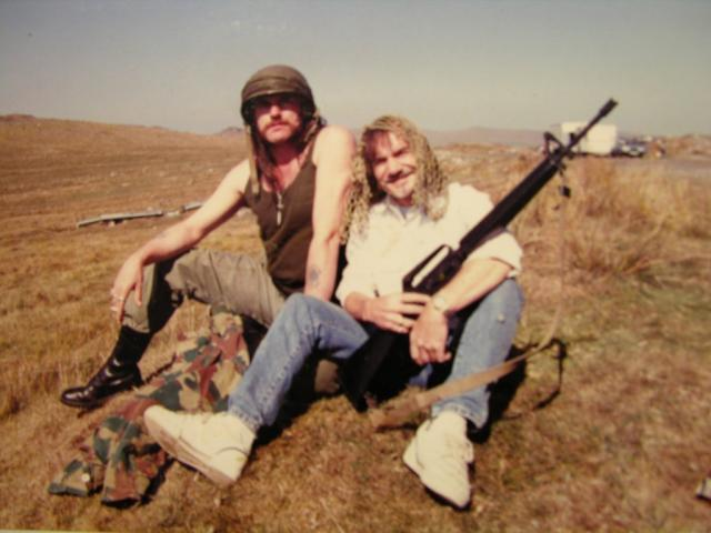 Terry English and #Lemmy - this pic is of them on Bodmin Moor