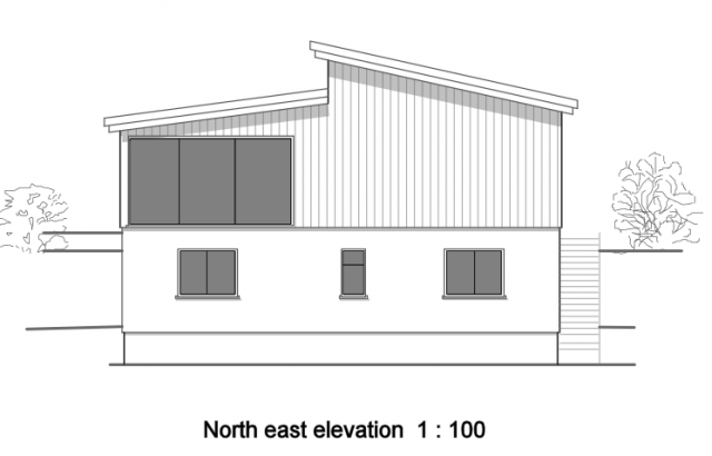 North east elevation 1:100