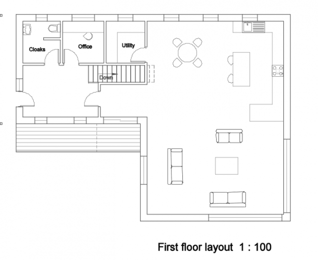 First floor layout 1:100