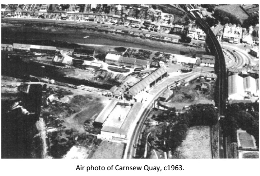 Air photo of Carnsew Quay, c1963