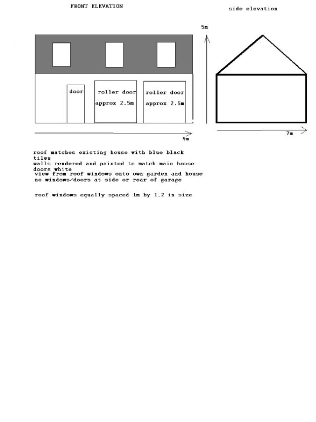 Proposed Front and side Elevation