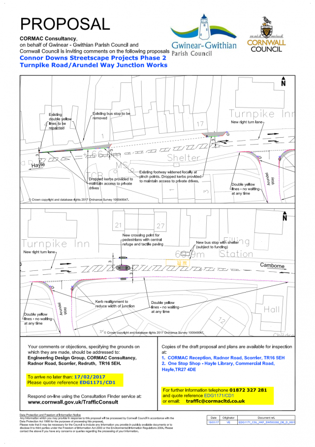 Streetscape consultation - Connor Downs - Turnpike Road/Arundel Way Junctions Works - Streetscape Projects Phase 2 (EDG1171/CD1) (Region West)