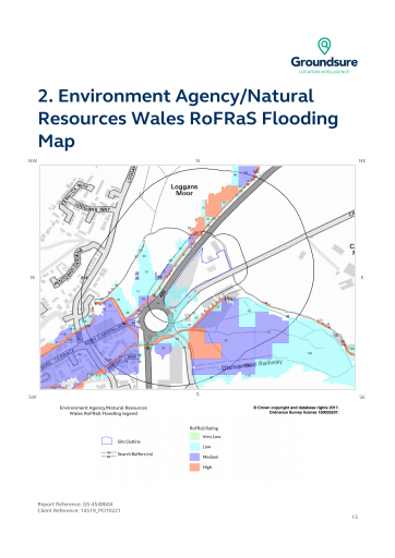 Environment Agency/Natural  Resources Wales RoFRaS Flooding  Map