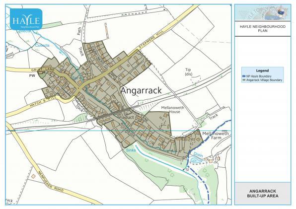Map 7 Angarrack Built-up Area - Housing