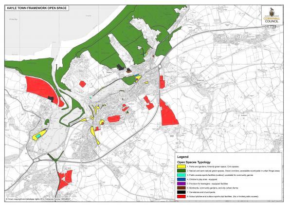 Map 17 Town Framework Open Space