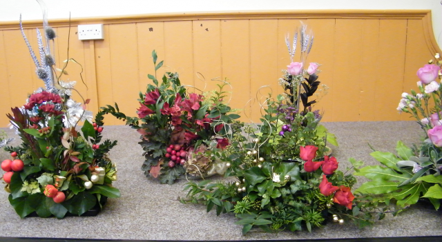 Tableau of Christmas Flower Arrangements 2012 part four
