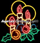 Angarrack Christmas Lights - Three Candles