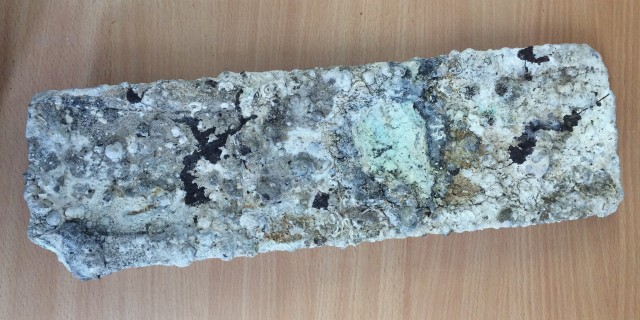 Tin ingot that was retrieved from the wreck of Hayle's SS Cheerful