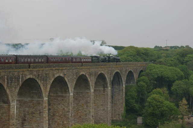 Royal Duchy steam Train on Angarrack Viaduct