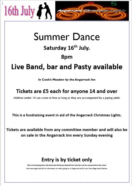 Summer Ball 2016 in aid of Angarrack Christmas Lights