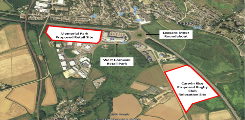Marsh Lane development | Aerial View of Sites